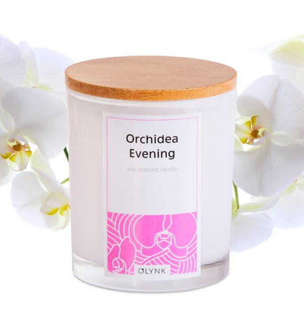 Świeczka sojowa o zapachu orchidei