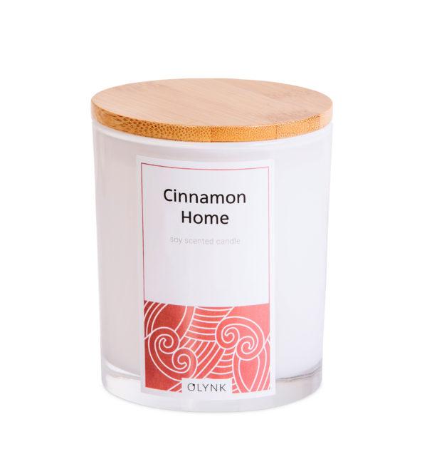 Świeca zapachowa z wosku sojowego: CINNAMON HOME