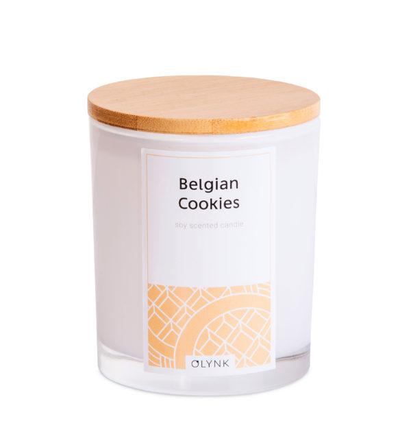 Świeca zapachowa z wosku sojowego: BELGIAN COOKIES