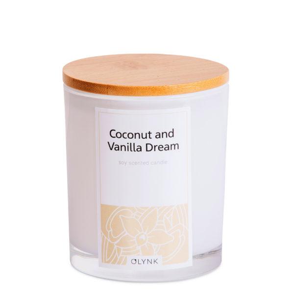 Świeca zapachowa z wosku sojowego: COCONUT AND VANILLA DREAM
