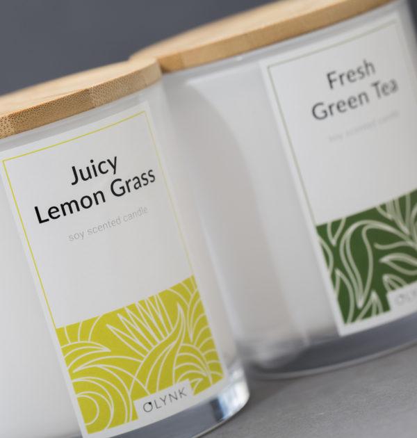 Świeca zapachowa z wosku sojowego: JUICY LEMON GRASS