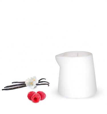 massage candle raspberry vanilla